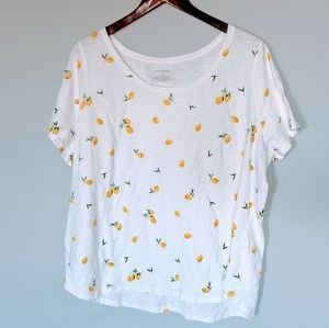 Lane Bryant Lemon Print Blouse